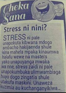 stress ni nini
